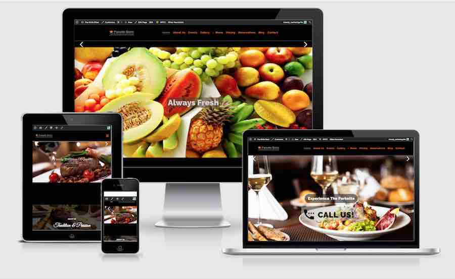 wordpress restaurant theme image
