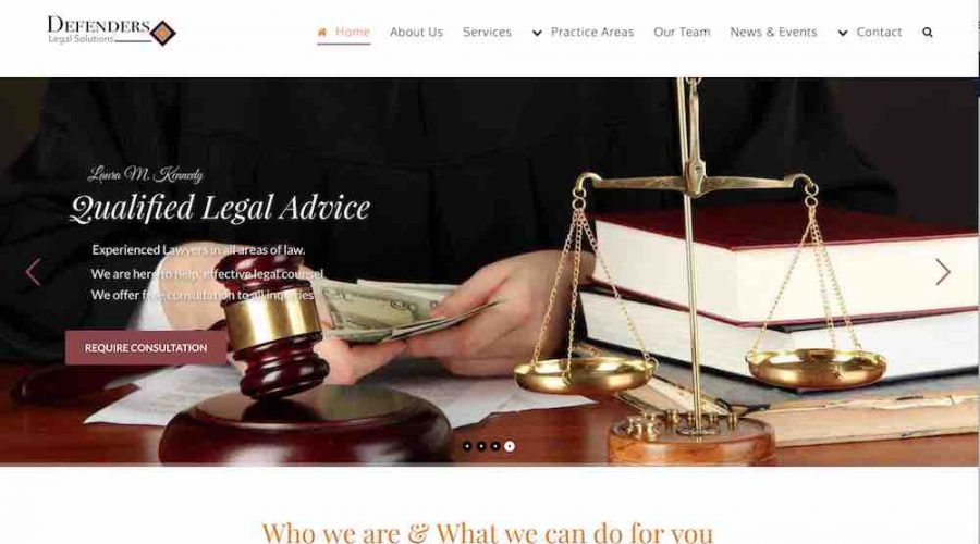 Website Template For Lawyer's Attorney's Legal Firm Web Design