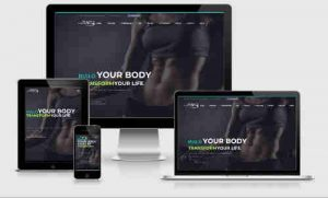 screenshot of personal training website